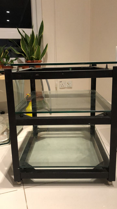 Custom-made Double Isolation Hifi Rack with glass  Rack_210