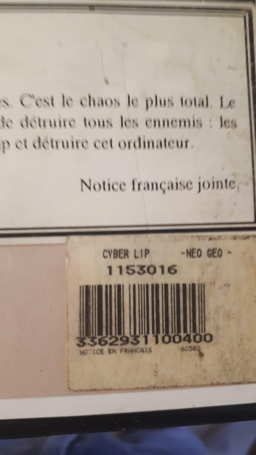 CODE-BARRES AES : sticker en français des versions GUILLEMOT (listing) Cyberl11