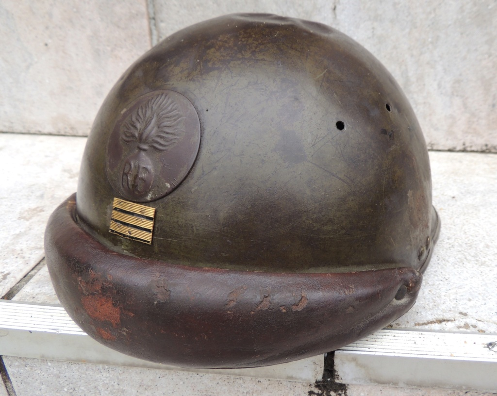 France 2°GM Casque militaire Mle 1935 capitaine 4133f010