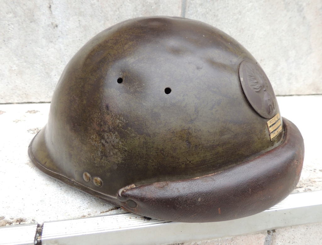 France 2°GM Casque militaire Mle 1935 capitaine 9b796410