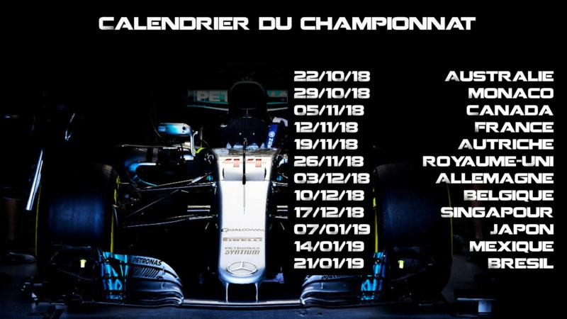 Championnat F1 2018 World Championship BY T2G Saison 2 Calend12