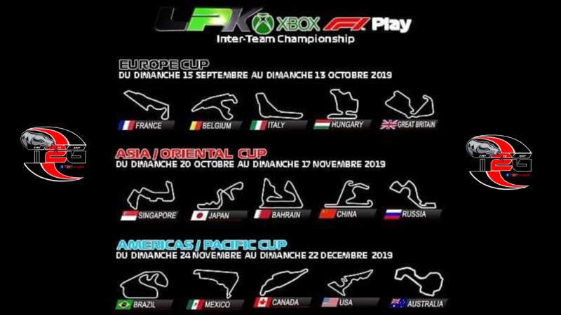 LPK XBox F1 Play Inter-Team Championship  BY T2G SAISON 1 Calend14