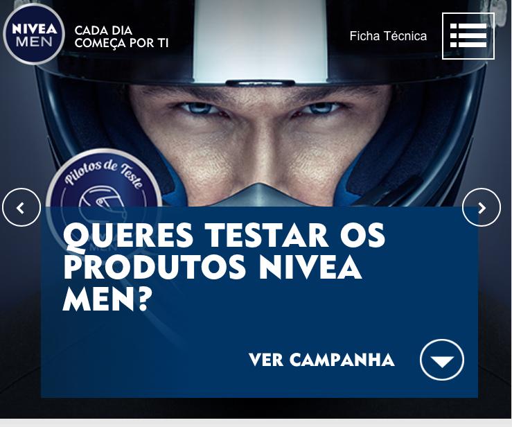Amostras Nivea - testar produtos Nivea Men B29af010