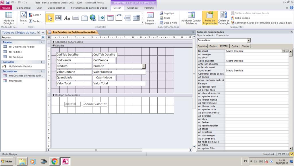 Gravar calculos de subformulário em tabela Exempl10