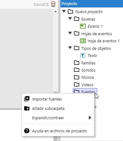 Uso de fuentes externas integradas en Construct 3 310