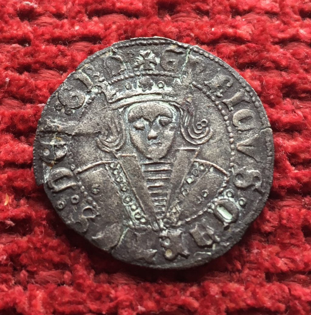 1/4 de real de vellón de Enrique IV (Jaén, 1466-1470). 09ec1110
