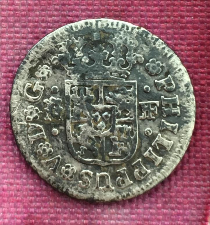 """Medio Real de Felipe V, año 1738 """"raro"""" 15a03410"""
