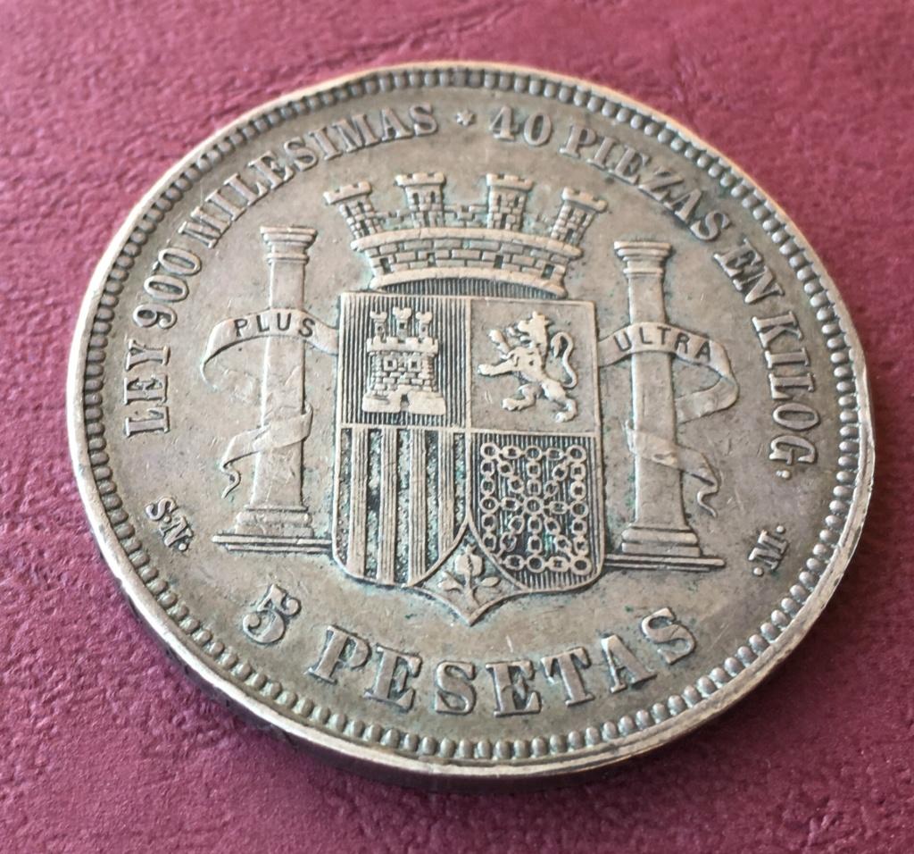 5 pesetas 1870. Gobierno Provisional 17061610