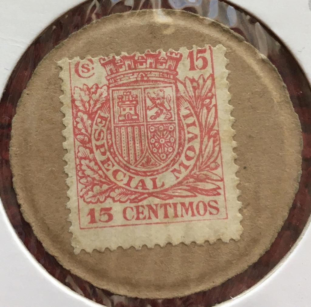 15 céntimos. Cartón Moneda II Republica 6f5c5510