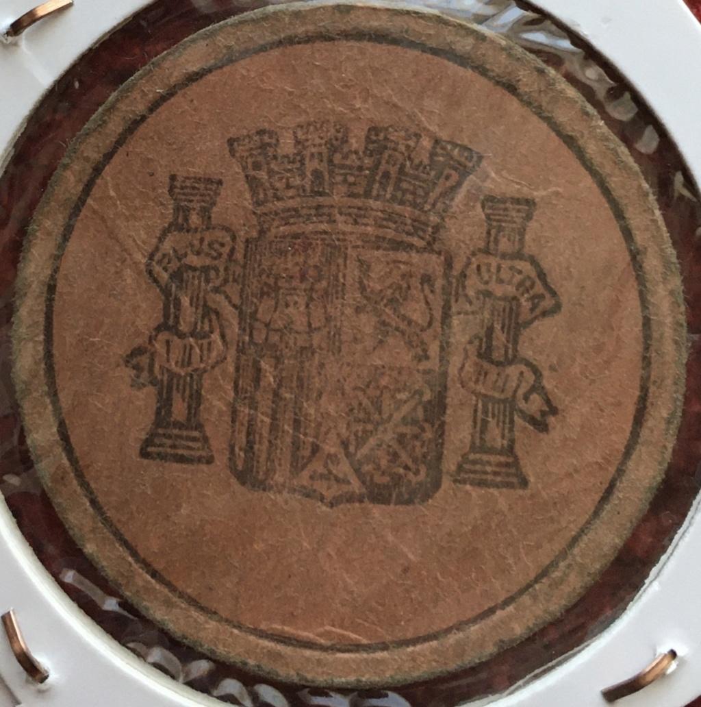 5 céntimos. Cartón moneda II Republica 77652610