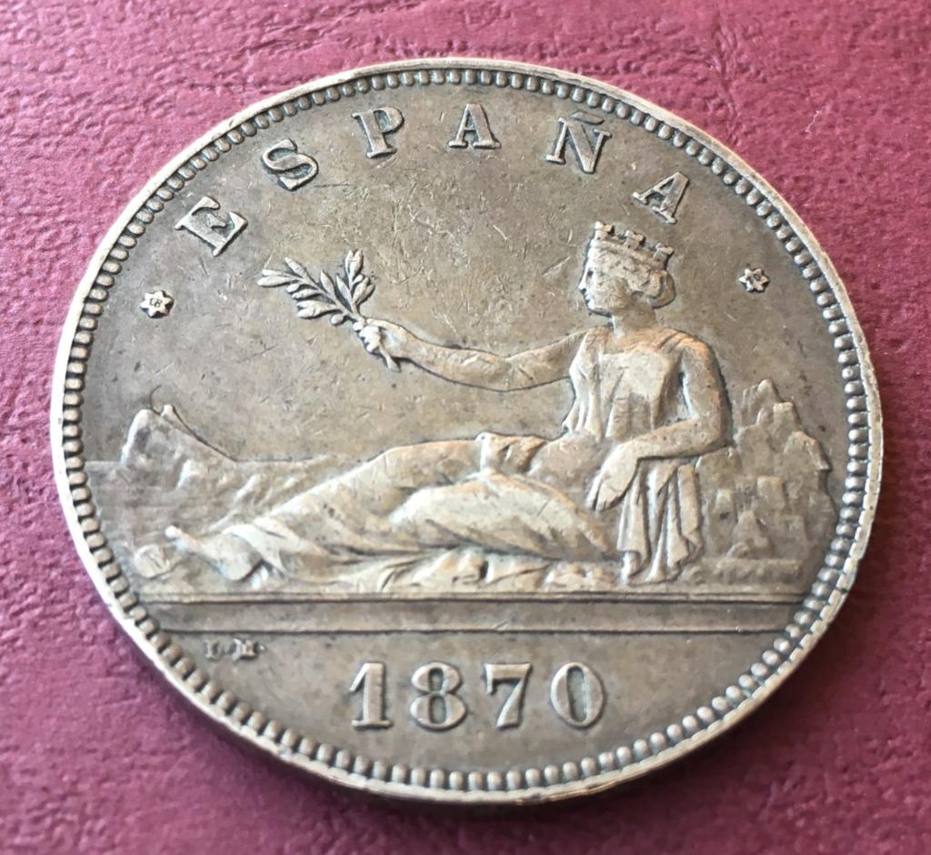 5 pesetas 1870. Gobierno Provisional C1b89810