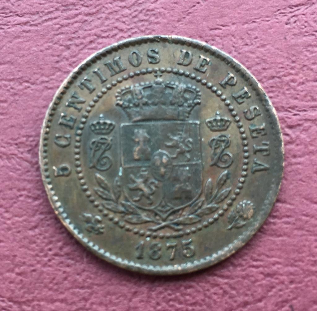 5 céntimos 1875 Carlos VII el Pretendiente  D93a5910
