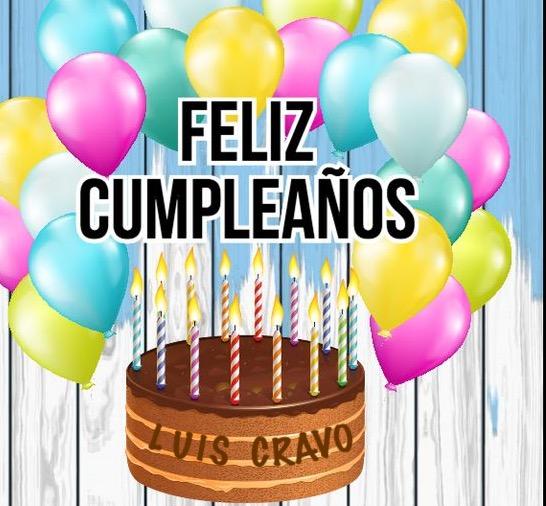 Felicidades Luis Cravo 1833a810