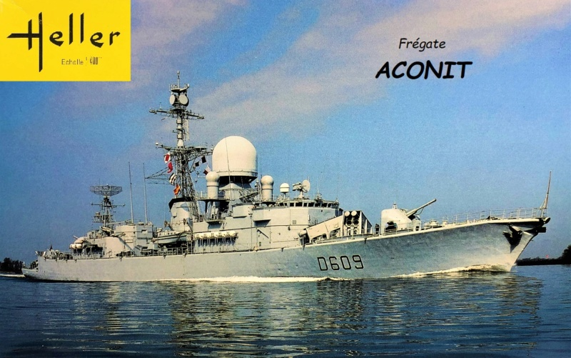 Frégate D609 ACONIT 1/400ème base HELLER + scratch Frzoga10