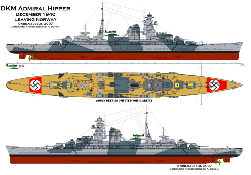 Croiseur lourd ADMIRAL HIPPER  boîte jaune Réf 1033 Hipper10