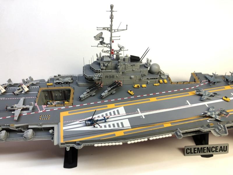 CLEMENCEAU 1987 Mission Prométhée 1/400 Heller + L'Arsenal + Scratch Img_4625