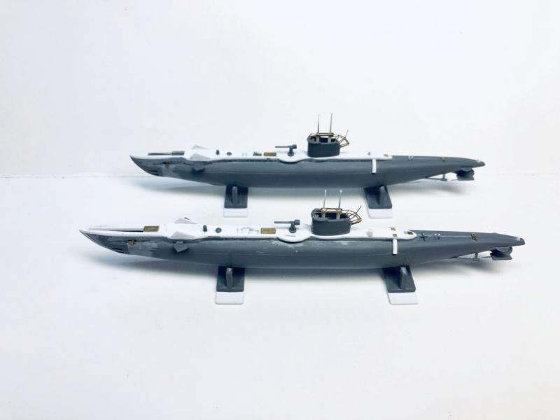2 sous-marins FNFL le CURIE et la MORSE au 1/400 ème base Mirage + scratch Img_e383