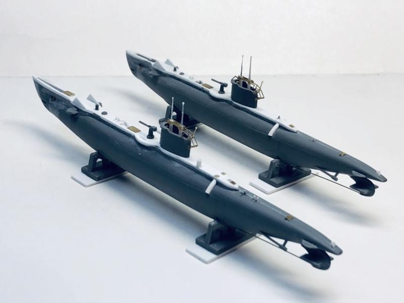 2 sous-marins FNFL le CURIE et la MORSE au 1/400 ème base Mirage + scratch Img_e385