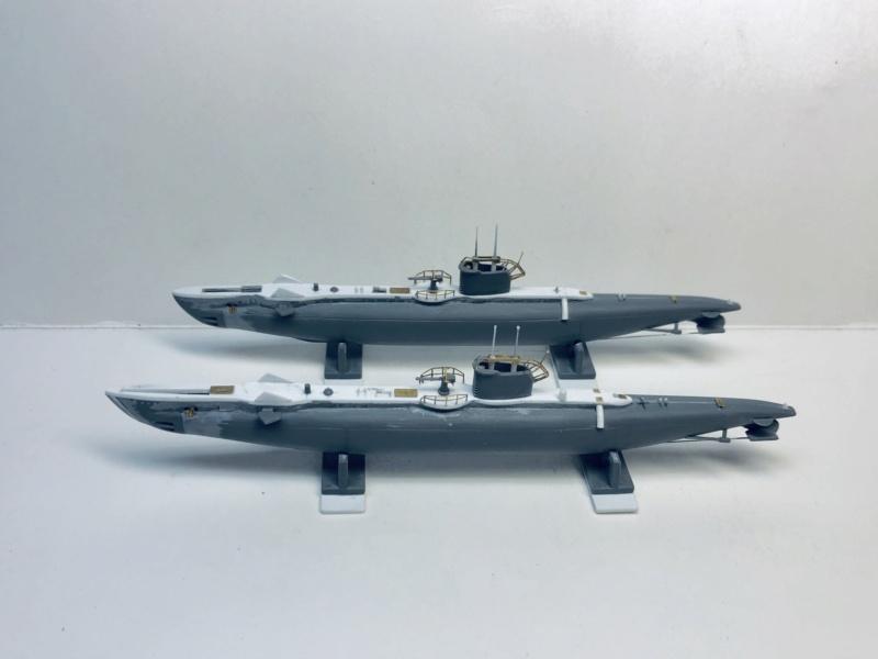 2 sous-marins FNFL le CURIE et la MORSE au 1/400 ème base Mirage + scratch Img_e387