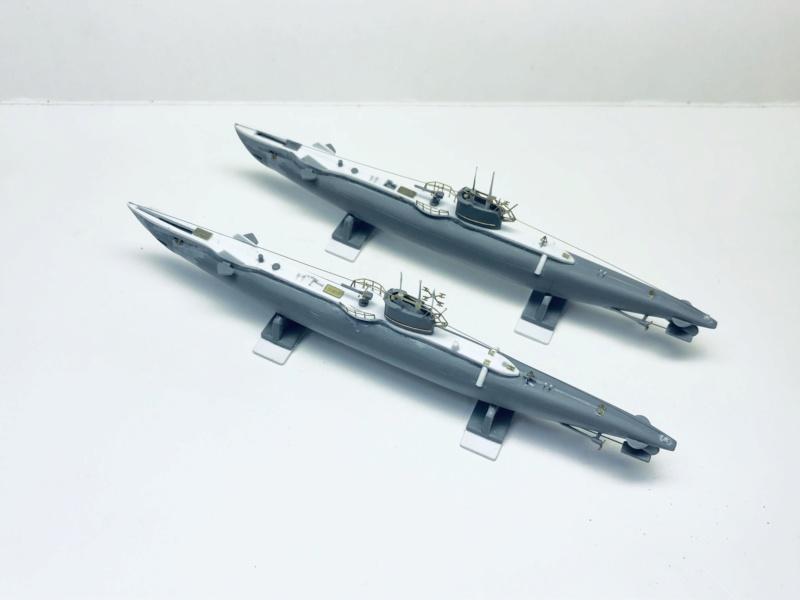 2 sous-marins FNFL le CURIE et la MORSE au 1/400 ème base Mirage + scratch Img_e396