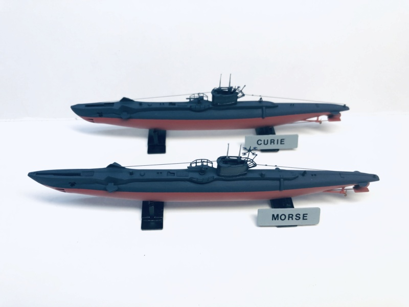 2 sous-marins FNFL le CURIE et la MORSE au 1/400 ème base Mirage + scratch Img_e399