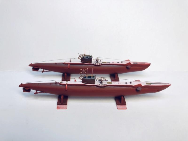 2 sous-marins FNFL le CURIE et la MORSE au 1/400 ème base Mirage + scratch Img_e400