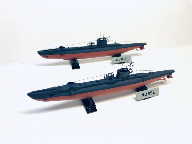 2 sous-marins FNFL le CURIE et la MORSE au 1/400 ème base Mirage + scratch Img_e401