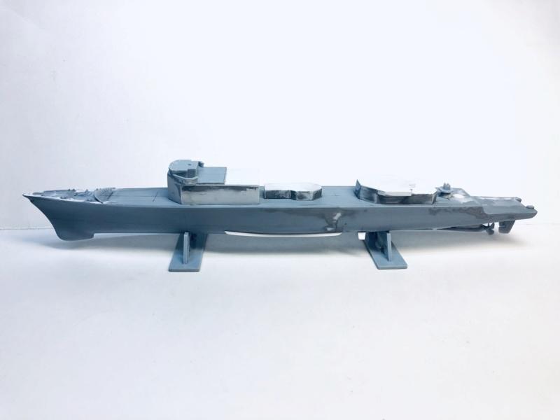 Frégate D609 ACONIT 1/400ème base HELLER + scratch Img_e735