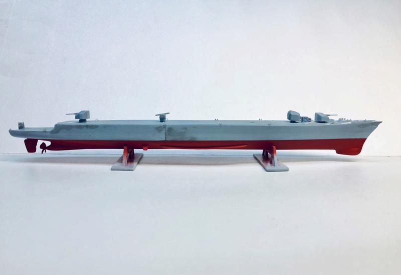 Frégate D609 ACONIT 1/400ème base HELLER + scratch Img_e769
