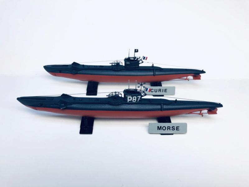 2 sous-marins FNFL le CURIE et le MORSE au 1/400 ème base Mirage + scratch  Img_e826