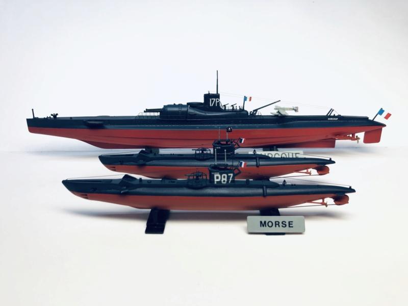2 sous-marins FNFL le CURIE et le MORSE au 1/400 ème base Mirage + scratch  Img_e828