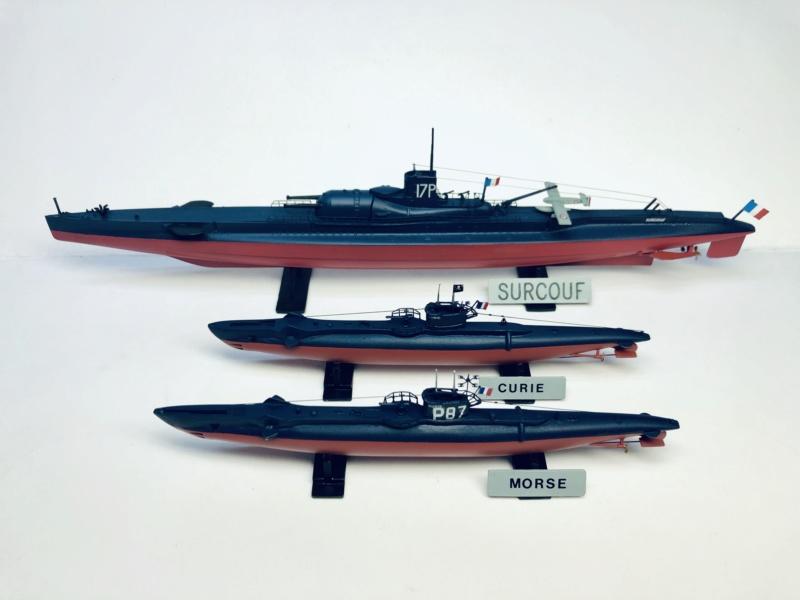 2 sous-marins FNFL le CURIE et le MORSE au 1/400 ème base Mirage + scratch  Img_e829