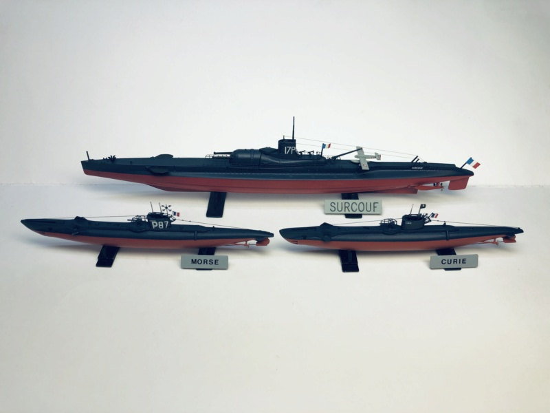 2 sous-marins FNFL le CURIE et le MORSE au 1/400 ème base Mirage + scratch  Img_e830
