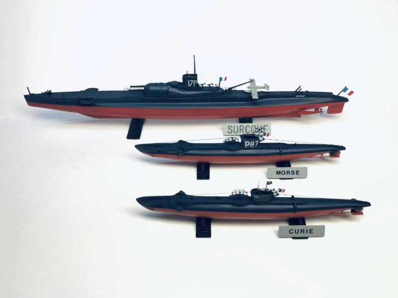 2 sous-marins FNFL le CURIE et le MORSE au 1/400 ème base Mirage + scratch  Img_e831