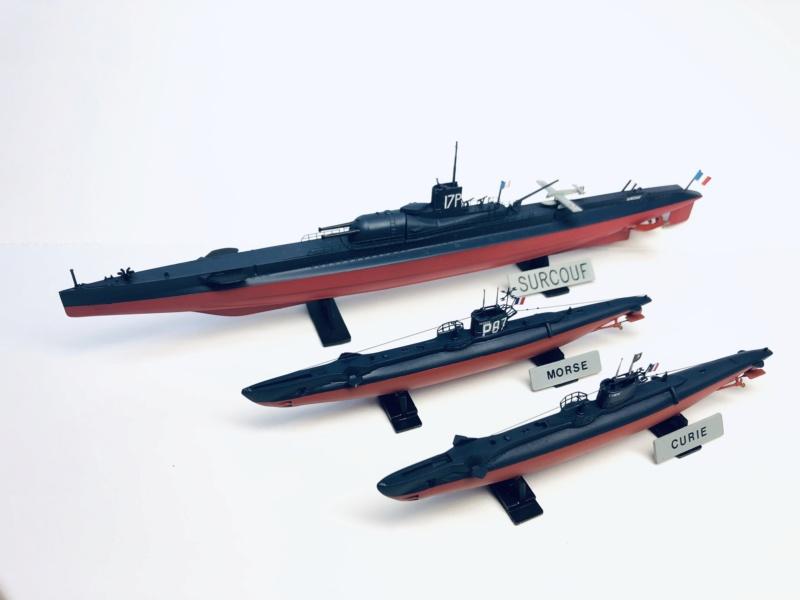 2 sous-marins FNFL le CURIE et le MORSE au 1/400 ème base Mirage + scratch  Img_e832