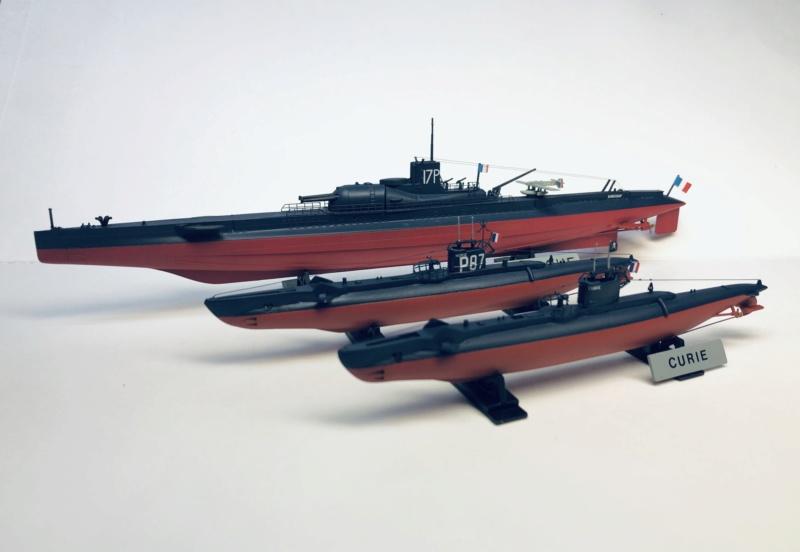 2 sous-marins FNFL le CURIE et le MORSE au 1/400 ème base Mirage + scratch  Img_e833