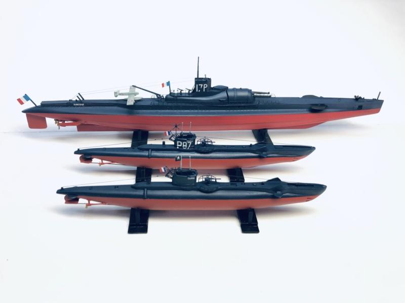 2 sous-marins FNFL le CURIE et le MORSE au 1/400 ème base Mirage + scratch  Img_e834