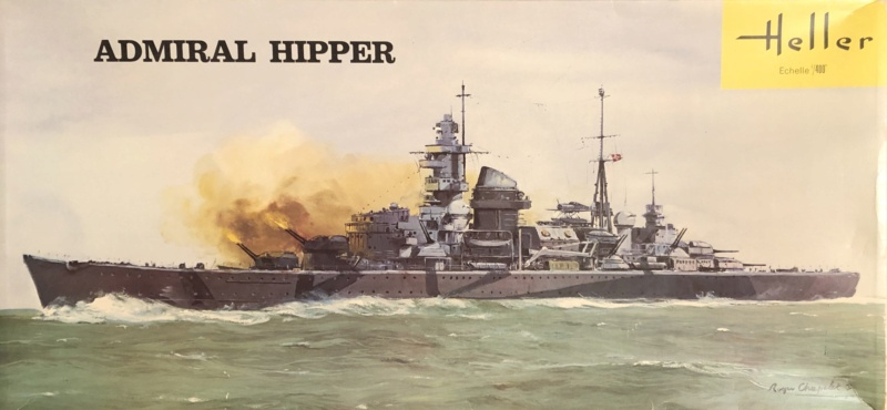 Croiseur lourd ADMIRAL HIPPER  boîte jaune Réf 1033 Img_e882