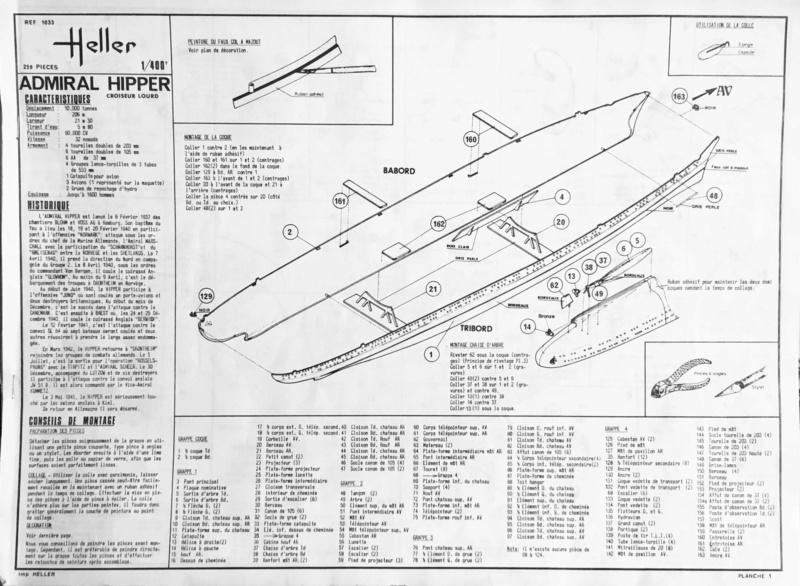 Croiseur lourd ADMIRAL HIPPER  boîte jaune Réf 1033 Img_e886