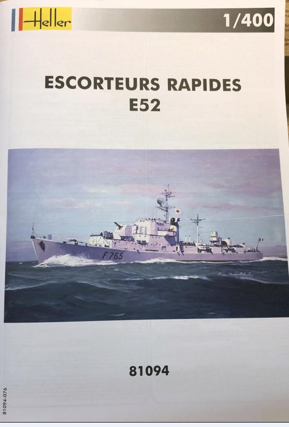 Escorteur Rapide E52 1/400ème réf 81094 Notice10
