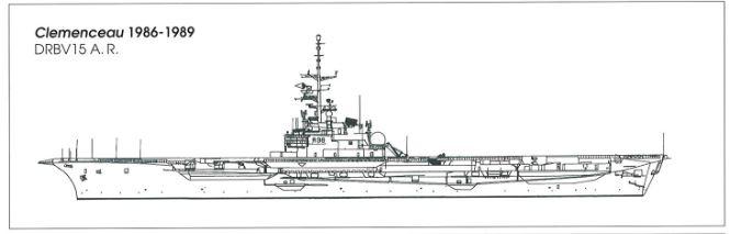 Porte-avions CLEMENCEAU 1987 mission Prométhée Plan_c10