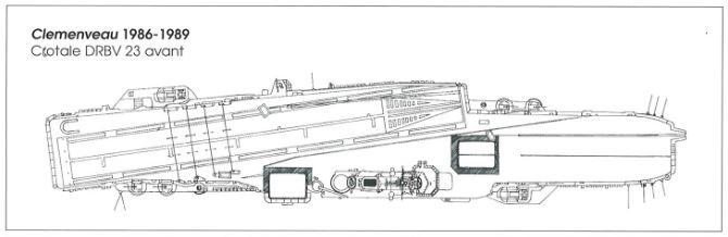 Porte-avions CLEMENCEAU 1987 mission Prométhée Plan_c11
