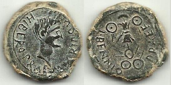 Semis de Cartago Nova, época de Augusto. L BENNIO - PRAEF. Trofeo. C-26511