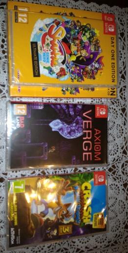 [VENDU] lots 3 jx Switch Shantae + Axiom Verge + Crash Bandicoot pal TBE 50 euros fdpin (envoi relay P_201810