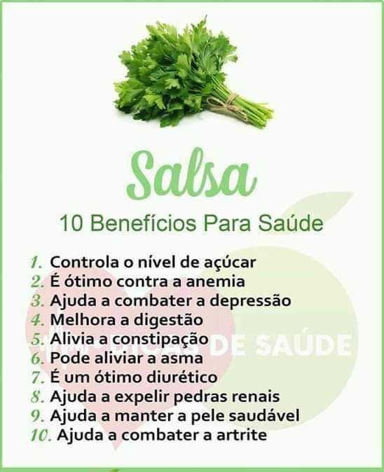 Beneficios da Salsa para a saúde... Salsa10