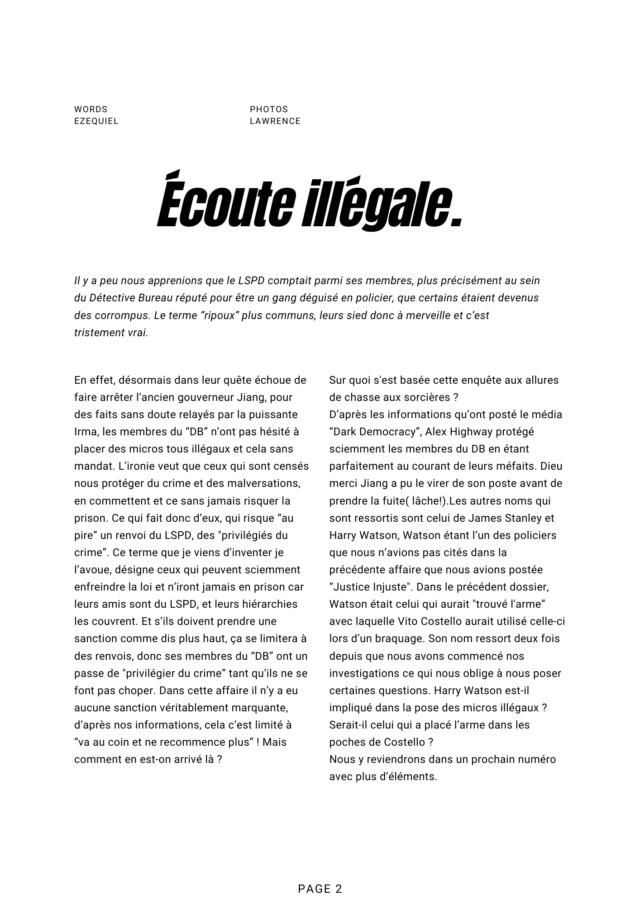 Los Santos Corrompu Département - Enquête réalisé par Ezequiel 213