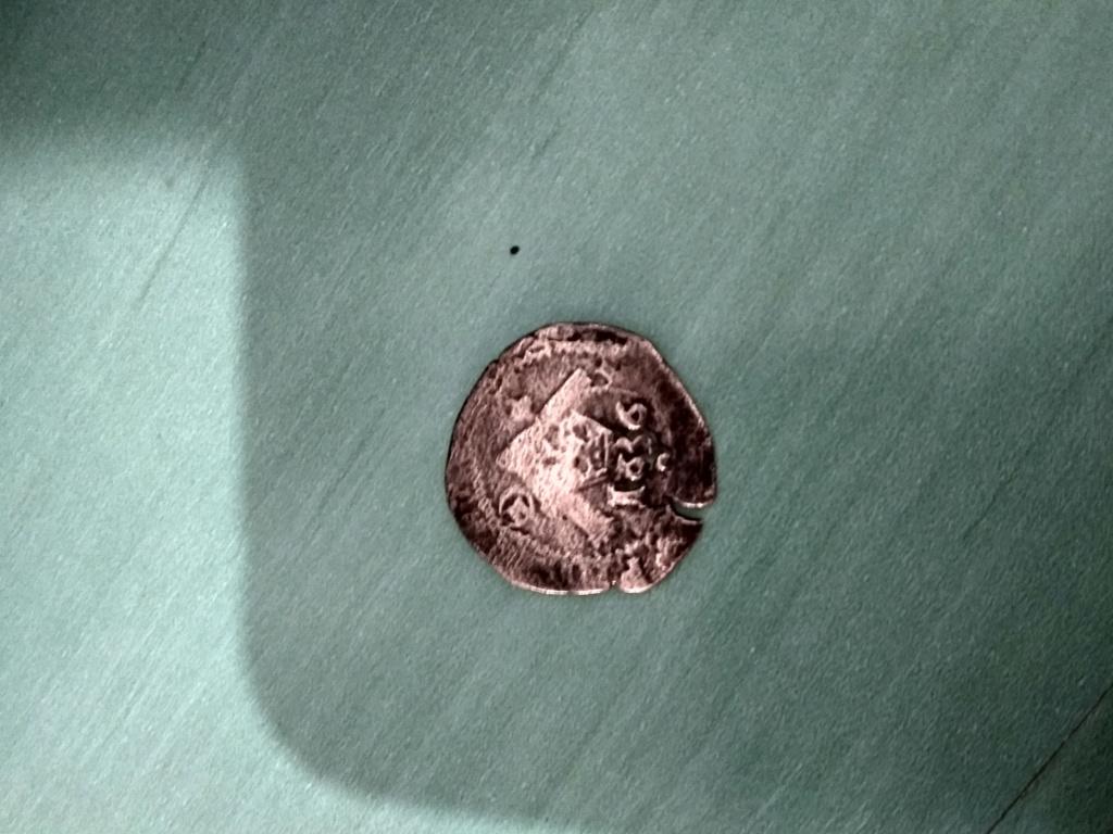2 maravedís de Felipe II, de Toledo, resellados.  15319312