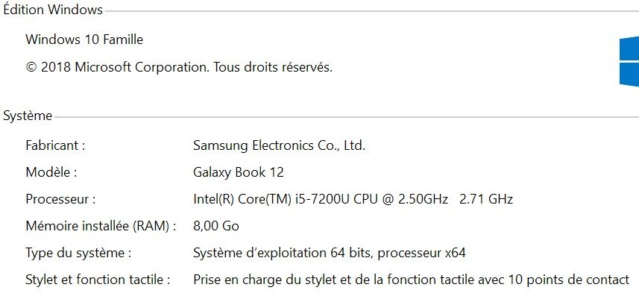 """What settings for a Samsung galaxy book 12"""" ? Systzo10"""