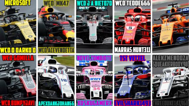 F1 ORIGIN  GT2  Domingos // Sunday 18.00 Lista_14