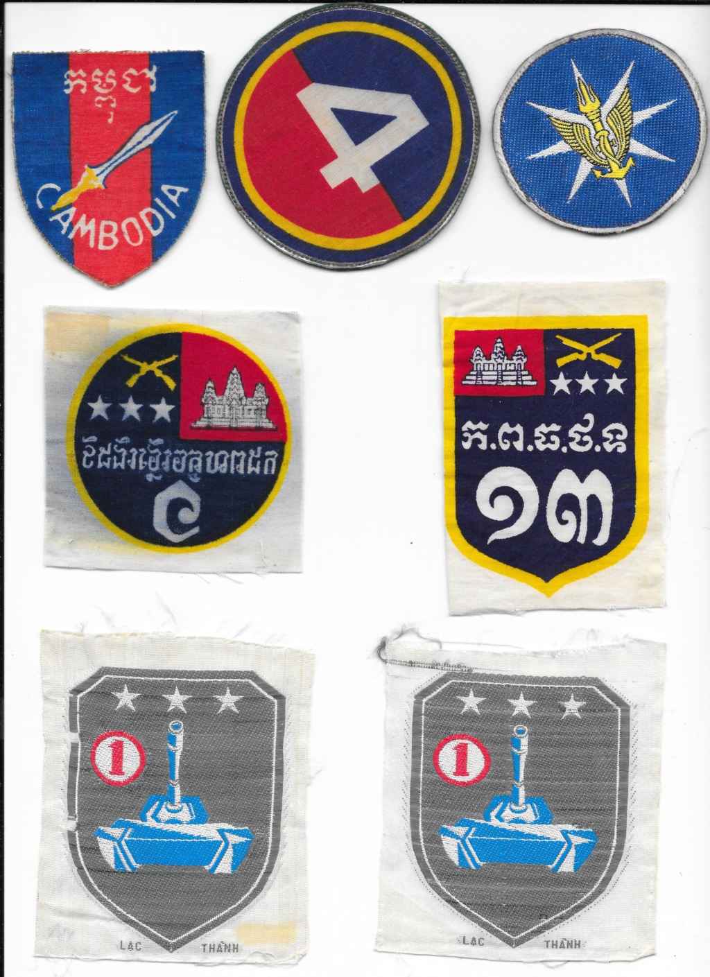 Cambodian military patches Cambod10